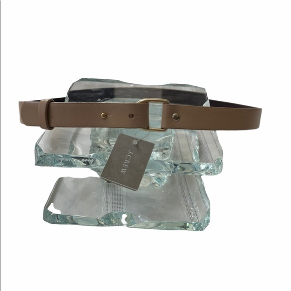 J. Crew Narrow Tan Leather Belt, Small
